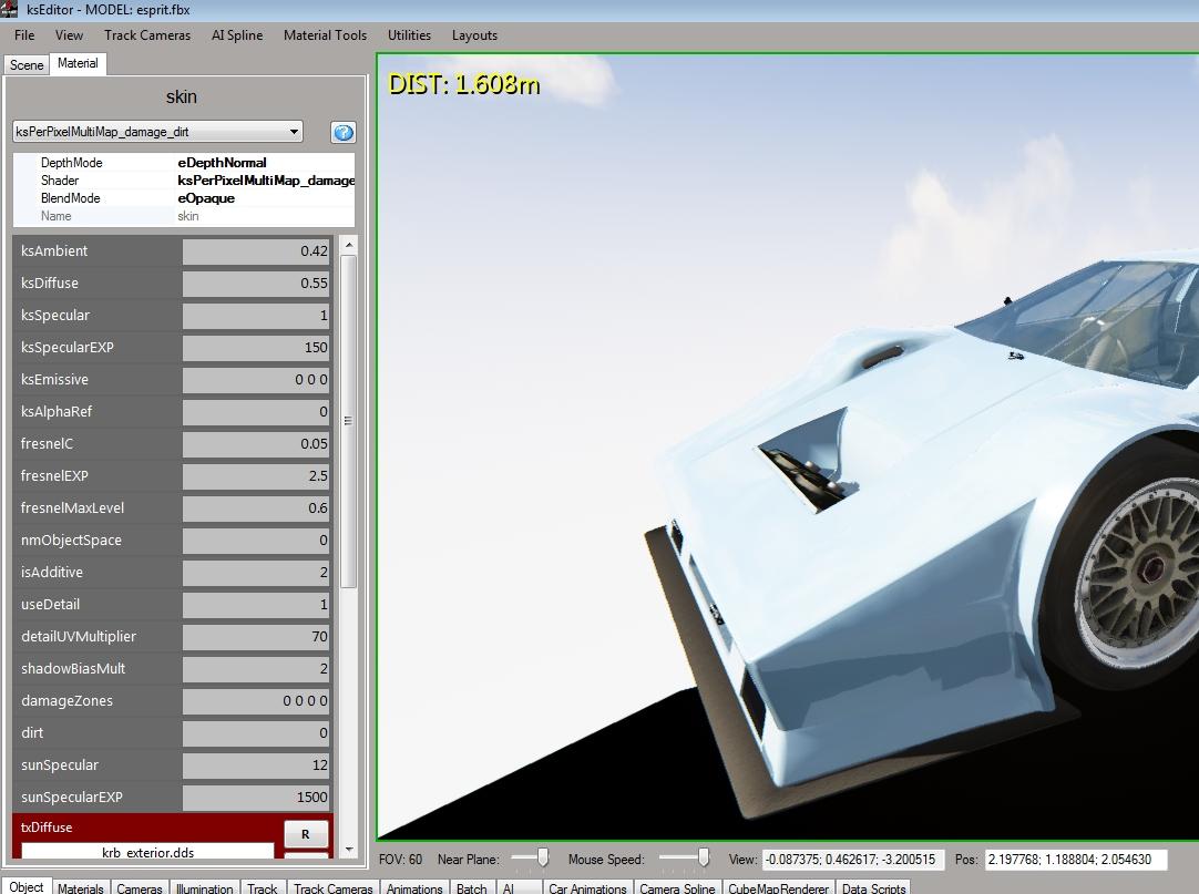 Textures KS Editor (Blender) | Assetto Corsa Mods